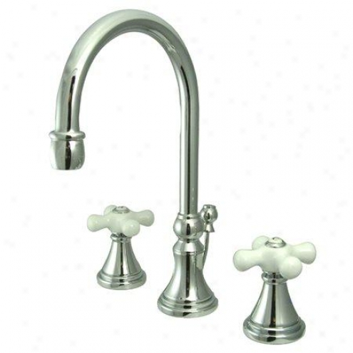 Elements Of Design Es2981px Madison Two Handle 8 To 16 Widespread Lavatory Faucet Through  Brass Pop-u