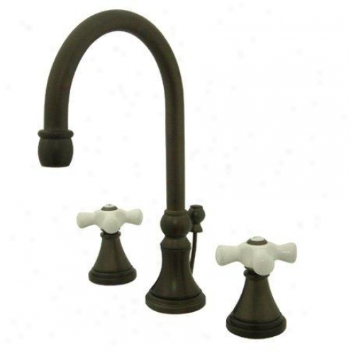 Elements Of Design Es2985px Madison Two Handle 8 To 16 Widespread Lavatory Faucet With Brass Pop-u