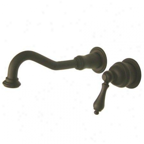 Elements Of Design Es3115al St. Louis Single Handle Wall Mountt Lavatory Faucet, Oil Rubbed Bronze
