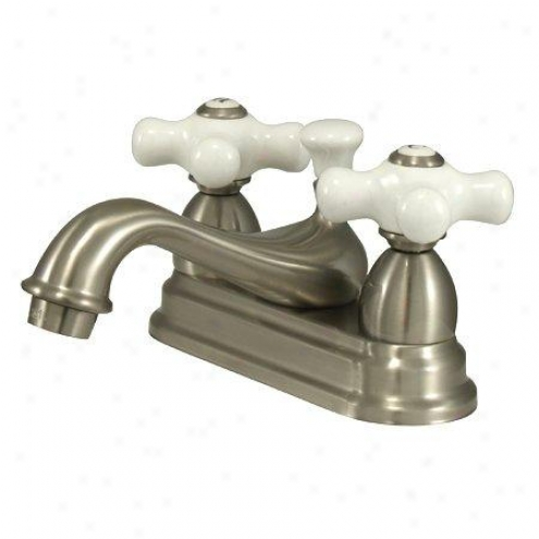 Elements Of Design Es3608px Chicago Two Hahdle 4 Centerset Lavatory Faucet With Brass Pop-up, Satin