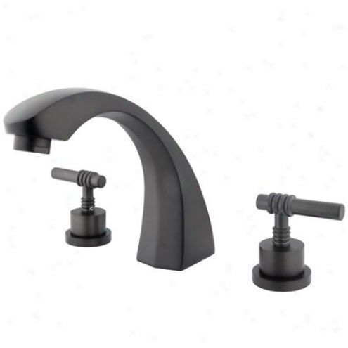 Elements Of Design Es4365ml Concord Two Handle Roman Tub Filler, Oil Rubbed Bronze