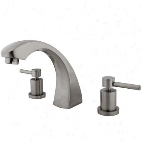 Elements Of Design Es4368dl Concord Roman Tub Filler, Satin Nickel