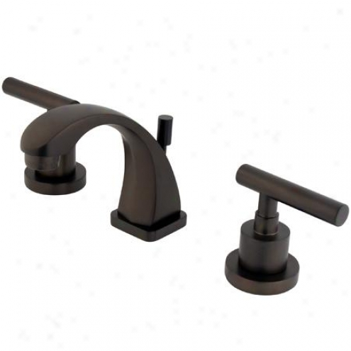 Elements Of Desing Es4945cml Manhattan Two Handle 4 To 8 Mini Widespread Lavatory Faucet With Bras