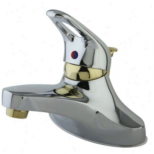 Elements Of Design Es544cb Royake Choose Handle 4 Centerset Lavatory Faucet With Brass Pop-up, Poli