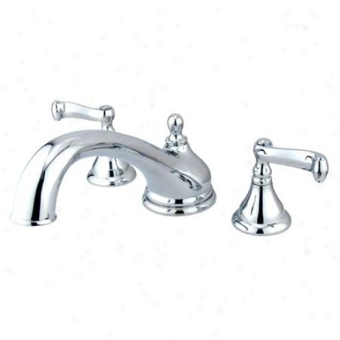 Elements Of Design Es5531fl Atlanta Two Handle Roman Tub Filler, Polished Chome