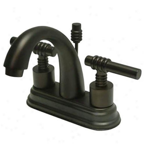 Elements Of Design Es8615ml Manhattan Two Manage 4 Centerset Lavatory Faucet With Brass Pop-up, Oil