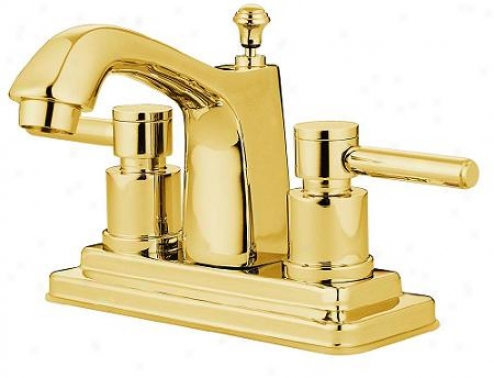 Elements Of Design Es8642el Twin Lever Handles 4 Centerset Bathroom Faucet, Polished Brass