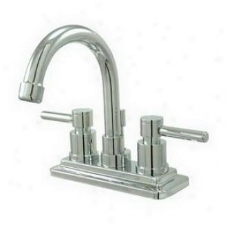 Elements Of Design Es8661dl Twin Lever Handles 4 Centerset Bathroom Faucet, Chrome