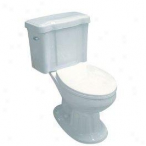 Elements Of Design Evtc1251 Georgian Admit to intimate interview - Coupled Elongated Toilet 12 Rough- In, White