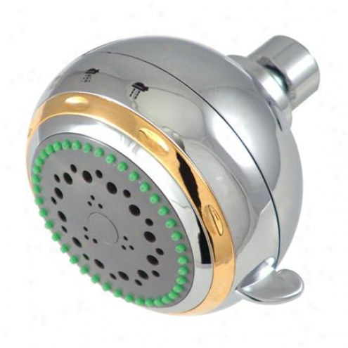Elements Of Desihn Ex1654 Fixed Shower Fore part, Trim & Gray Face, Chrome And Polished Brass