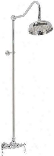 Elizabethan Classics Eces03sn Exposed Wall Mount Shower Fauxet With Hot And Cold Porcelain Lever Han