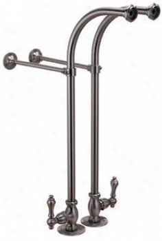 Elizabethan Classics Ecfssl01orb Freestanding Clawfoot Bath Tub Supply Lines With Stops, Oil Rubbed