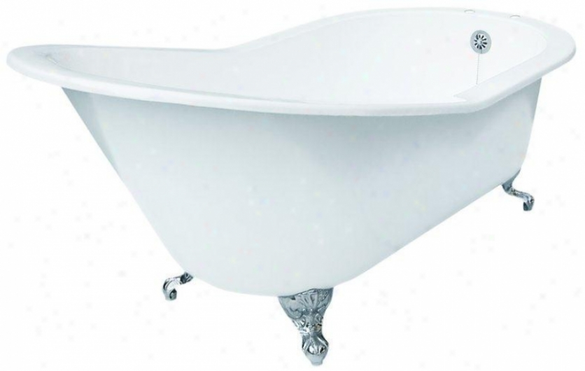 Elizabethan Classics Gdsltapufb Grand Slipper Cast Iron Clawfoot Tub Wit hRim Holes, Uncoated Brass