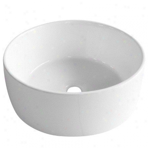 Fauceture Ev3103 Park Vitrepus China Vessel Sink, White