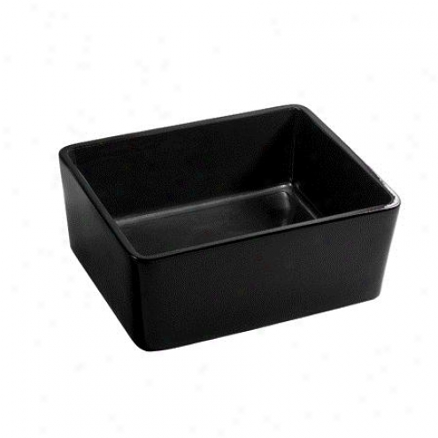 Fauceture Ev4458k Elements Vitreous China Vessel Sink, Black
