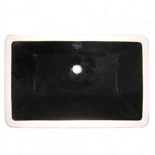 Fauceture Lb21137k Castillo Rectangular Undermount Vitreous China Sink, Black