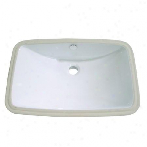 Fauceture Lb24157 Forum Rectangular Undermount Vitreous China Sink, White