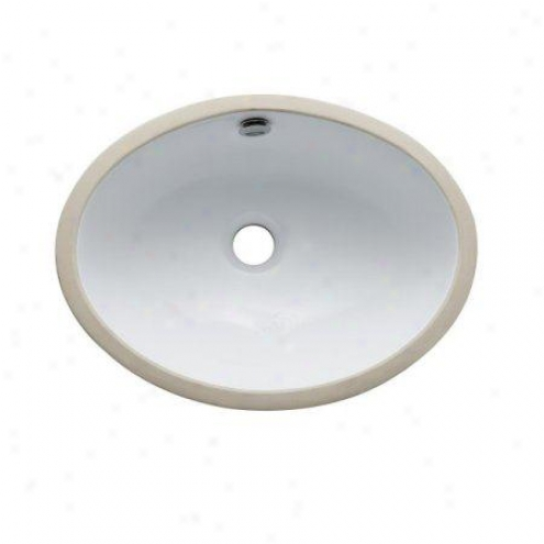 Fauceture Lbo16147 Marina Oval Undermount Vitreous China Decline, White