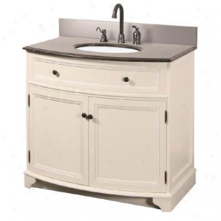 Foremost Araa3734-h 37in. Arcadia Vanity & Marble Top Combo, Frost White