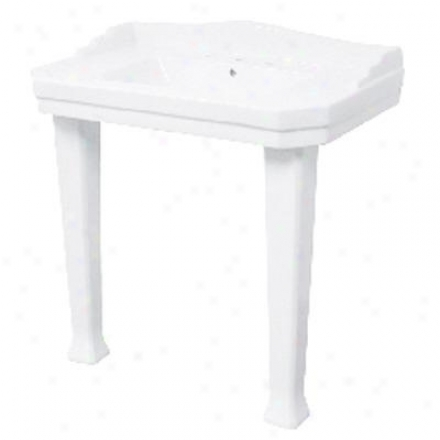 Foremost F-1900-8w Series 1900 White Vtreous Porcelain Console Lavatory W/8 In. Centers, White