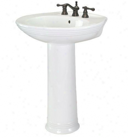 Foremost Fl-2630-8w Aden Pedestal Sink, 8ã¢â'¬? Centers, White