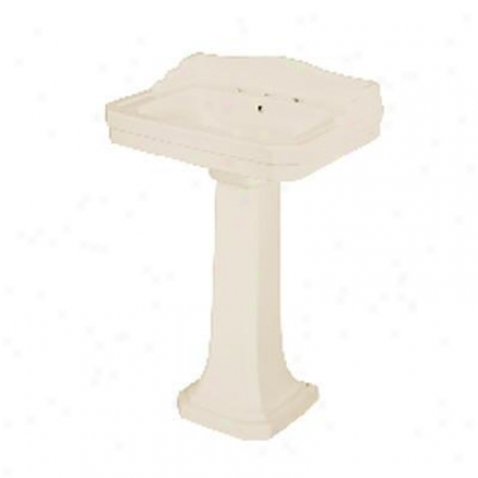 Foremost L-193O-bi Series 1930 Biscuit Vitreous China Pedestal Lavatory Leg, Biscuit