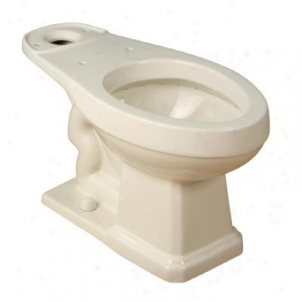 Foremost Tl-1930-ebi Succession 1930 Biscuit Vitreous China Elongated Toilet Bowl, Biscuit