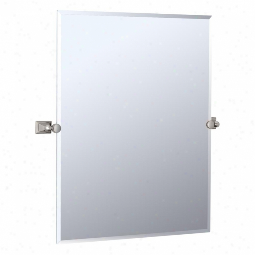 Gatco 4889s Philadelphia Tilting Wall Mirror, Satin Nickel