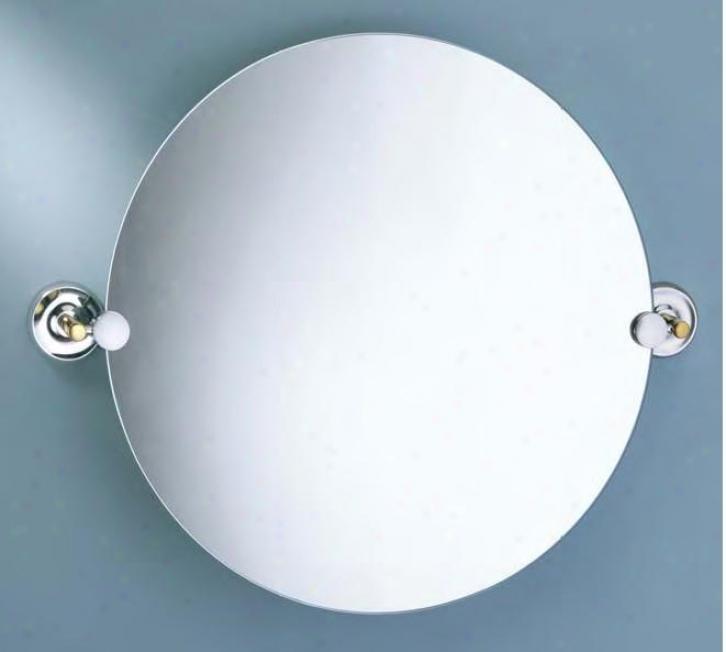 Gatco 5069r Designer Ii Round Mirror, Brass