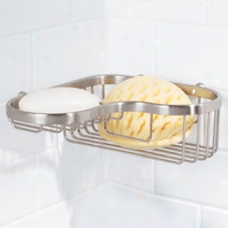 Ginger 504l-26 Splashables Large Combination Corner Basket, Classic Chrome