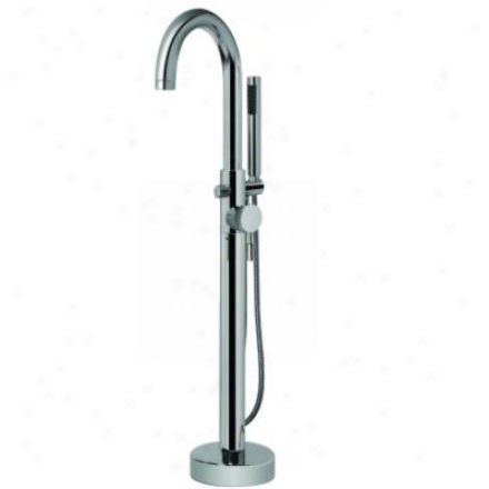 Gdaff G-1752-lm3f-pc Perfeque Floor Mounnted Exposed Tub Filler Polished Chrome