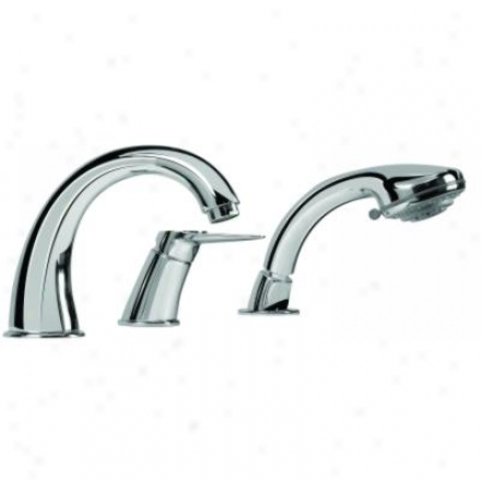 Grafff G-3951-lm33-bn Kobe One Handle Roman Tub Faucet With Handshower Brushed Nickel