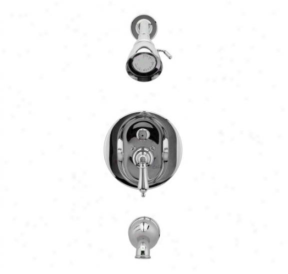 Graff G-7150-lm2-sn Atlantis/elegante Transitional Pressure Balancing Tub & Shower Set, Satin Nickel