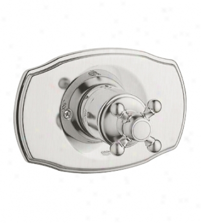 Grohe 19 725 En0 Geneva Pressure Balance Valve Trim With Cross Handle, Infinity Brushed Nickel