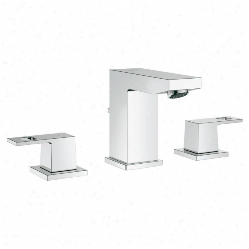 Grohe 20370000 Eurocube Wideset Bathroom Faucet, Srarlight Chrome