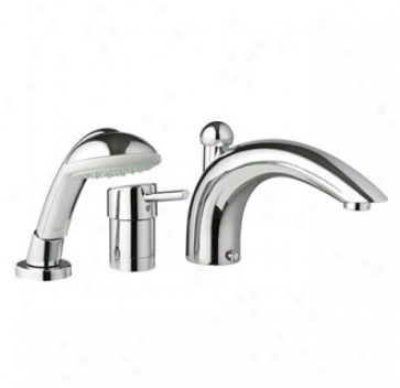 Grohe 34 272 En0 Concetto Roman Tub Filler With Personal Hand Shower, Infinity Brushed Nickel