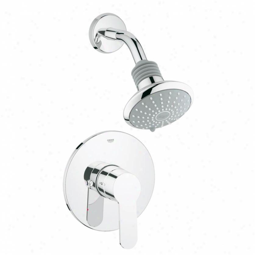 Grohe 35023002 Eurostyle Cosmosppolitan Pressure Balance Shower Combination Trim, Chrome