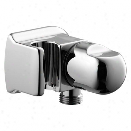 Hansa 0447 0100 3217 Wall Connection Angle With Volume Control And Handshower Holder, Brushed Nickel