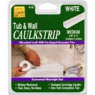 Homax 156pk 7/8 White Tub & Wall Caulk Strip, White
