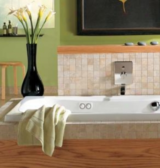 Jacuzzi 6880969 Signna 5 Plus Whirlpool Bath, Oyster