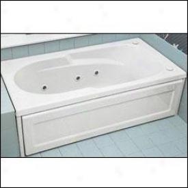 Jacuzzi 9750-958 Allura Acrylic 72-inch By 36-inch By 19-1/4-inch Whirlpool Bath, Almond