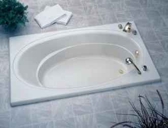 Jacuzzi E930-969 Nova 5 Whirlpool Bath With 3-tile Flange, Left Drain, Oyster