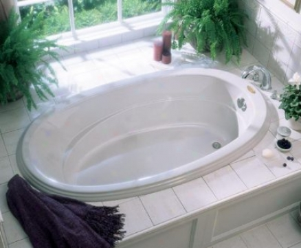 Jacuzzi Gal6243buxxxxy Gallery 5 Oval Bath, Oyster