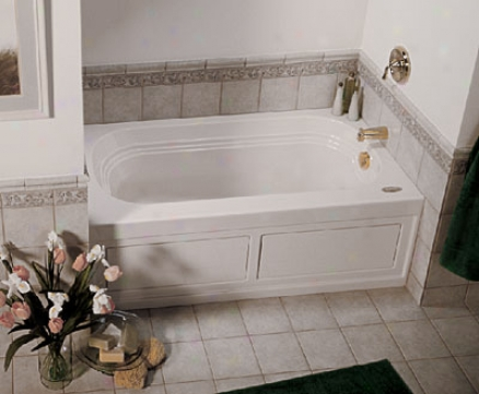 Jacuzzi Lxs6032blxxxxw Luxura 5 Bath W/skirt, White