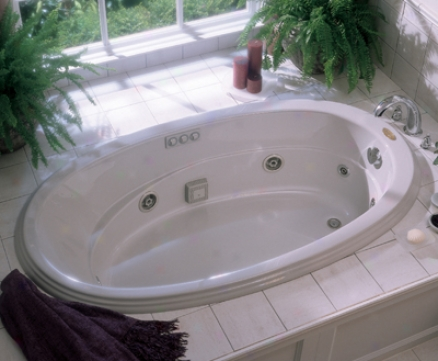 Jacuzzi R235959 Gallery Whirlpool Bath, White
