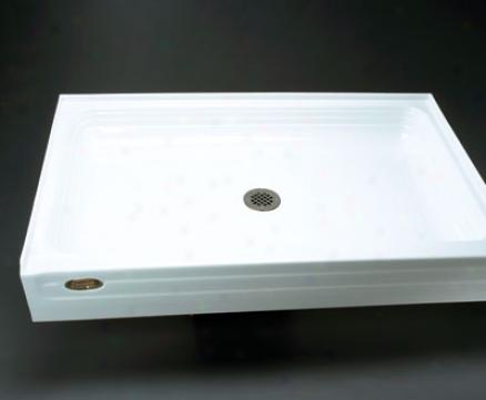 Jacuzzi T374-959 Tru-level 48 X 32 T374 Shower Base, White