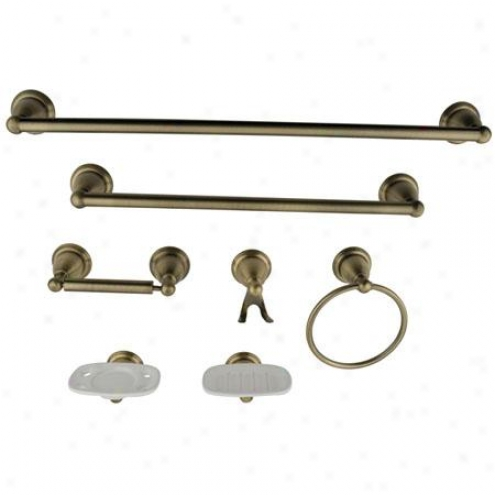 Kingston Brass Bak1750ab1 Victorian Bathroom Package, Anntique Brass