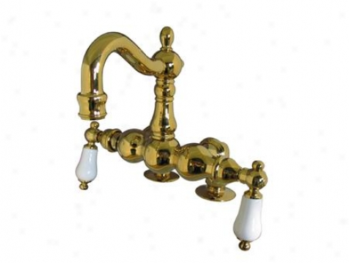 Kingston Brass Cc1093t2 Vintage Clawfoot Tub Filler, Polished Brass