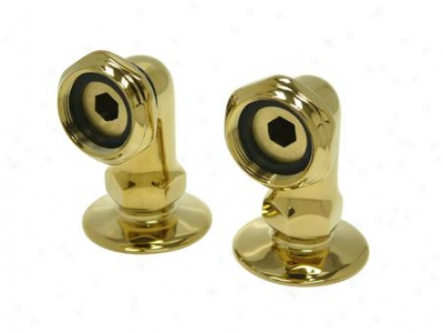 Kingston Brass Cc2rs2 Vintage Leg Tub Filler Riser, 1/2 Nps Inlets, Sold In Pairs, Polished Brass