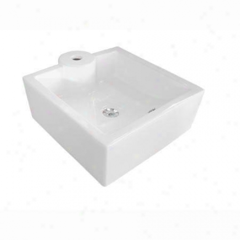 Kingston Brass Ev4086 Harmon Wash Basin, White